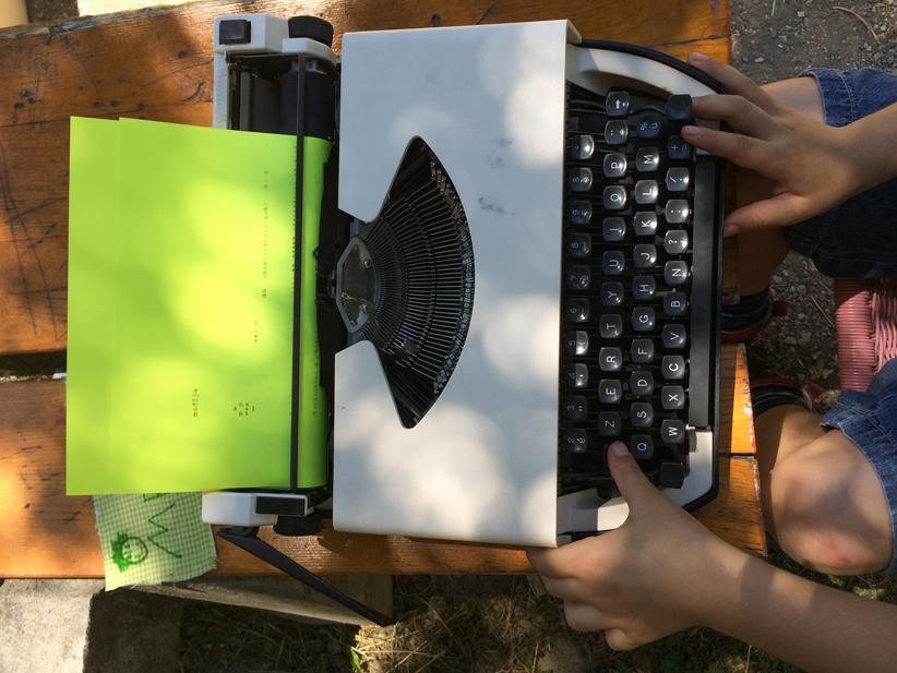 Des machines à écrire